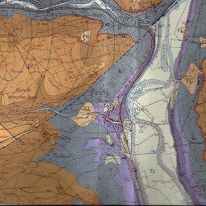 Carte géologique des environs de Pagny-sur-Moselle (54)