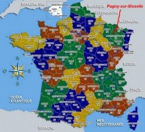 Localisation de Pagny sur la carte de France